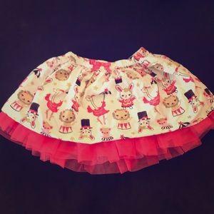 Gymboree circus print skirt girls toddler